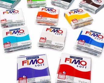 FIMO Soft Polymer Modelling Clay Starter Set of 12 x 57g Clays - Starter Pack