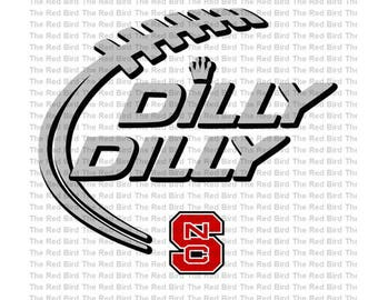 Dilly Dilly NC North Carolina State Football funny printable Digital download cut file  SVG, DXF, PnG, EpS, PdF