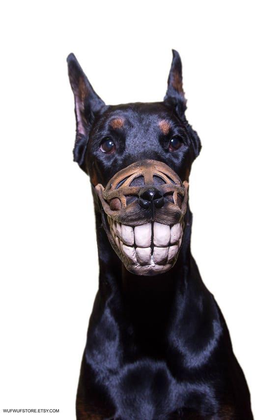 Pet gift funny dog muzzle hand painted smile dog muzzle like this item negle Choice Image