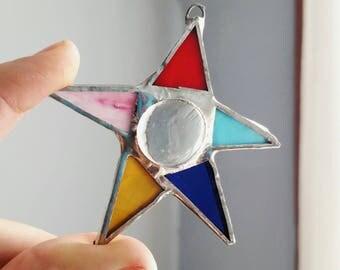 Stained Glass Star Suncatcher, ornament