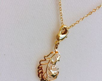 Appoline necklace - fine and delicate - skin to give as a plate jewelry gold - Miss vk