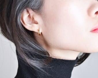 Huggie Earrings, Mini Hoop Earrings, 14KT Gold Fill, Sterling Silver