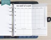 """Foldout Einlagen """"Monat auf einen Blick"""" - Personal - schwarz-weiß"""
