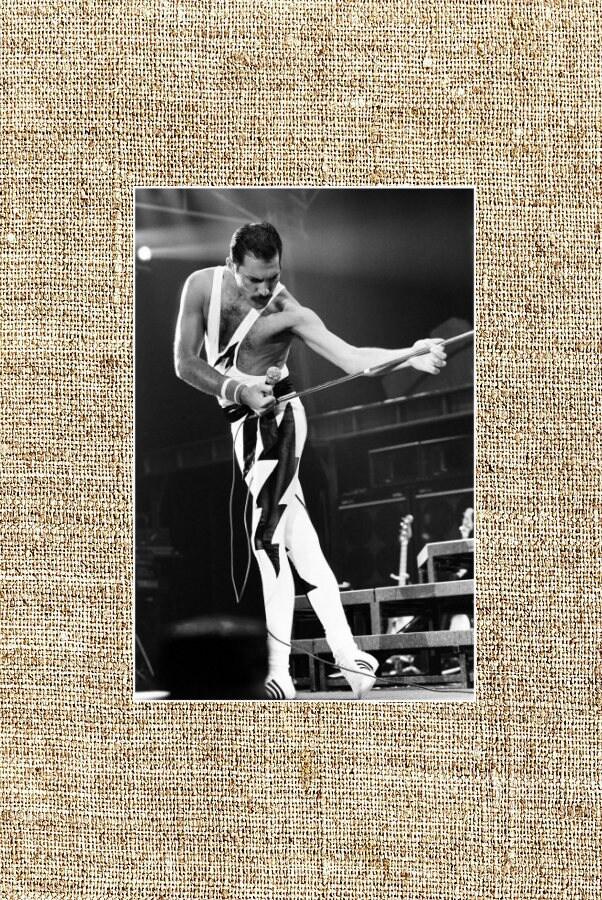 Freddie Mercury Photograph Black And White Photo Print