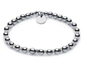 Full luxury ball bracelet • 5 mm • silver