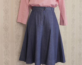 Vintage Jeans Skirt from 1970