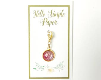 Pretty in Pink Ombre Glitter Planner Charm