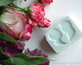 SILHOUETTE Wedding Favor Soaps (18) | 18 soap favors | Bridal Shower Favors | Jane Austen | Handmade | Bespoke | Wedding Day | Custom Favors