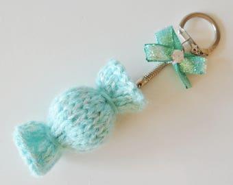 Keychain / bag turquoise candy charm