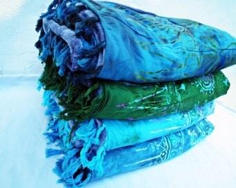 Four Yoga Blankets Aqua