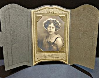 SALE Antique Woman Portrait Cabinet Card - Vintage Photography