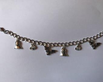 Spooky Halloween Silver Charm Bracelet
