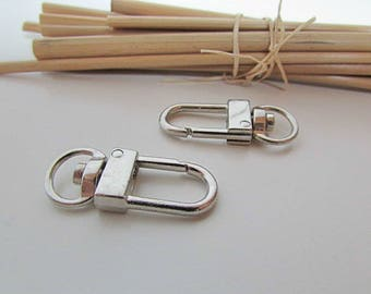 2 lobster swivel to strap 9mm - silver - 101.9