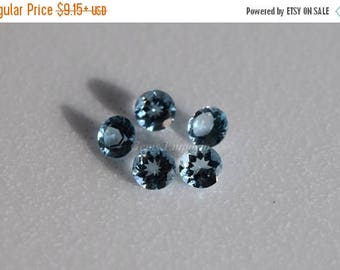 ON SALE Aquamarine 4 mm, 4.5 mm Faceted Round, March Birthstone, AAA Quality Fine Gemstone for Designer Jewelry. Price per piece.