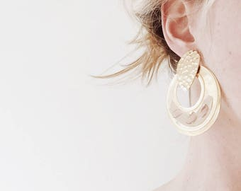 Vintage Large Gold Earrings