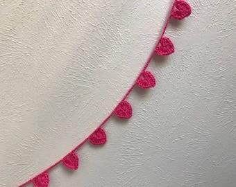 Heart garland, pink heart garland , valentine day , heart day , pink garland