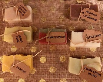 Homemade soap made with all natural scents (3 bars)