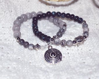 Duo of Buddha bracelets