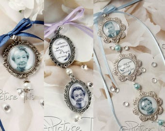 Custom Bouquet charm, Wedding Bouquet charm, Personalised bouquet charm, Double bouquet charm, Triple Bouquet Charm, Memorial Photo Charm.