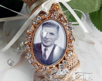 Custom Bouquet Charm, Wedding Bouquet Charm, Gold Bouquet Charm, Custom Photo Charm, Memorial Photo Charm, Diamante Charm, Bridal Bouquet.