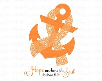 Hope Anchors Soul Etsy