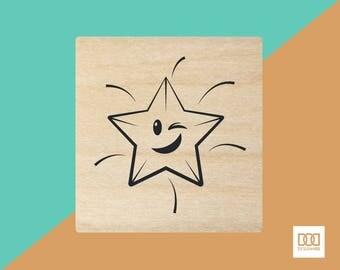 Shining Star - 3cm Rubber Stamp (DODRS0054)