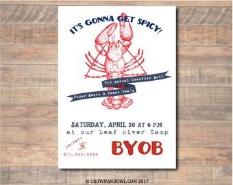 Printable Crawfish Boil Invitation PDF