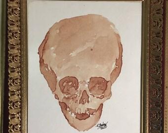 Human Blood Painting- Einstein