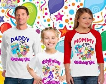 15% Off Shopkins shirt/shopkins birthday shirt/birthday girl shirt/birthday shirt/family shirts /sopkins/family theme shirts/ familyshopk