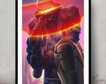 Soldier 76 • Digital Painting • Wall Art