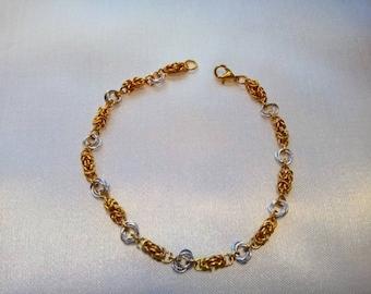 Byzantine and love knot bracelet
