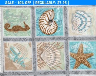 SALE! Seaside Dreams - Per Yd - Sharla Fults - Studio e - Seashell Blocks