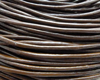 m 1.5 brown leather cord 2 mm-CC15 1307