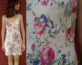 Betsey Johnson Slip Dress / DesignerBetsey Johnson / Vintage Floral Slip Dress / Summer Dress / Vintage Garden Party Dress / Festival Ready