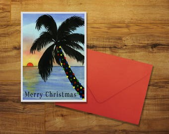 A Florida Sunset Holiday Greeting Card