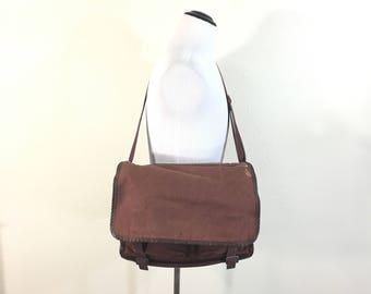 70's euro vintage cotton canvas shoulder messenger bag made in denmark