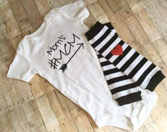 Baby Boys  #MCM Outfit,  Boys Hashtag Outfit, Mom's #MCM, Man Crush Monday Shirt, Boys Selfie Outfit, Baby Shower Gift, Toddler Boy Outfit