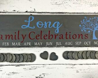 Family Birthday Sign - Family Celebrations Sign - Family Sign - Family Birthday Calendar - Birthday Board - Celebrations Calendar