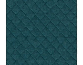 FRANCE DUVAL STALLA® Fabric quilted jersey - Blue Duck 2113 / 50 cm