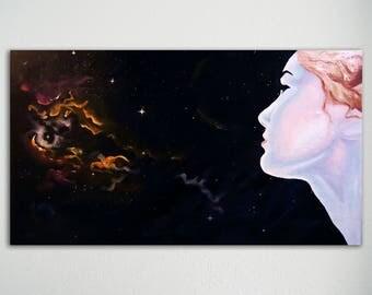 Panorama schilderij - Into Space