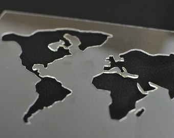 World map stencil etsy world map stencil for crafts world map small stencil for hand printing craft map sciox Images
