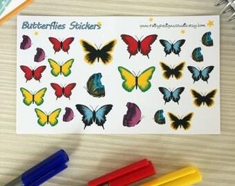 Butterflies Planner Stickers