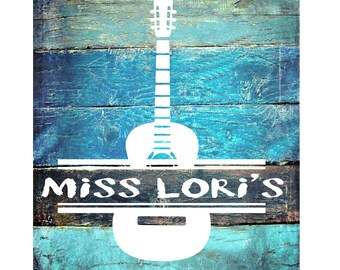 Guitar split letter monogram   SVG   cut file  t-shirts scrapbook vinyl decal wood sign cricut cameo Commercial use