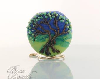 Summer Tree lampwork focal bead