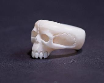 Mens Ring, Skull Ring, Mens Rings, Gothic Jewelry, Bone Ring, Mens Skull Ring, Biker Ring