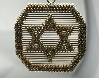 Hand Made Star of David 14k yellow gold. Pre-owned 9.5 grams.Item #5119
