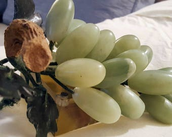 "Chinese Jade ""Stone Fruit"" Grape Cluster"