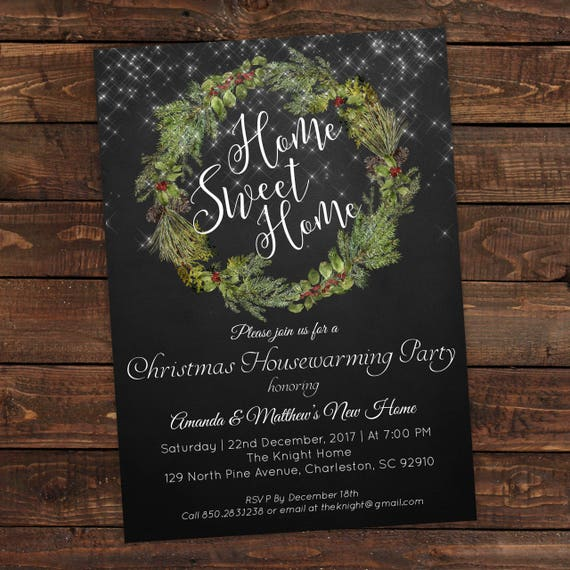 Housewarming party invitation christmas party invitations instant download housewarming - House warming blessing ...