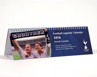 Personalised Tottenham Legends Desktop Calendar