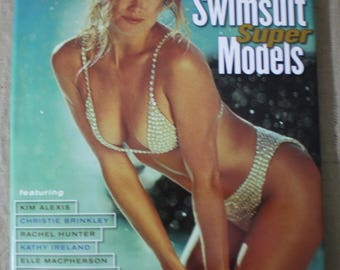 """Sports Illustrated The Best of """"SWIMSUIT SUPER MODELS"""" 1995 Hardcover *Coffee Table Book *Man Cave *She Shed """"Vintage Sports Illustrated"""""""